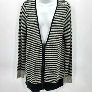 Ann Taylor Loft large open knit sweater striped